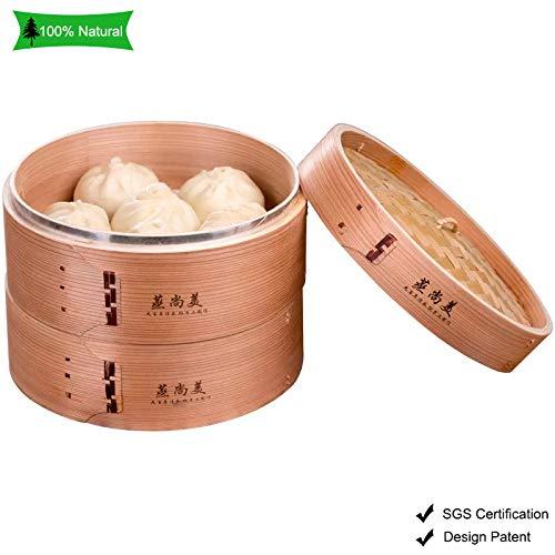 Wooden Bamboo Steamer Basket 10
