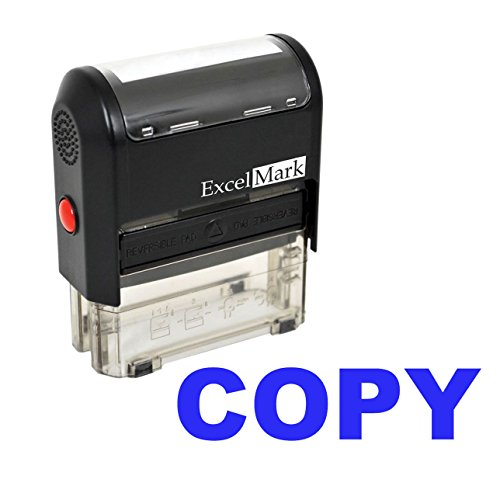 ExcelMark COPY Self-Inking Rubber Stamp (A1539-Blue Ink)