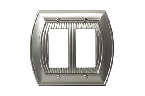 - Amerock BP36533G10 Allison 2 Rocker Wall Plate - Satin Nickel