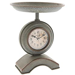 Park Hill Antique Style Kitchen Scale Table Clock