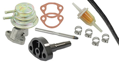 AIR COOLED VW BUG BEETLE FUEL PUMP KIT WITH FLANGE & ROD, FILTER, HOSE & CLAMPS, ALTERNATOR STYLE 113-127-025G - Hose Flange Kit
