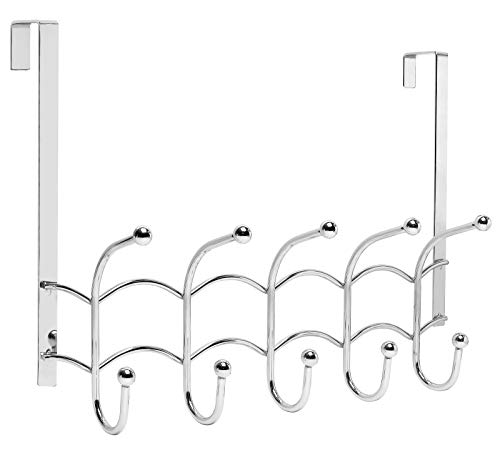 (Galashield Over The Door Hook Stainless Steel Organizer Door Hanger Towel Rack (10 Hooks) )