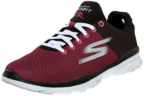 skechers yoga mat shoes. skechers performance womens go fit tr trek walking shoe, black/pink, 8.5 m us yoga mat shoes