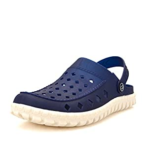 Mules Clogs Men Slippers Summer - Earsoon JS17002 (2017 Summer Hot Sale Series) Home Male Funny Outdoor Home Men Slippers Rubber Casual Clogs Shoes Beach Pool, Heavy Duty (11, Dark Blue)