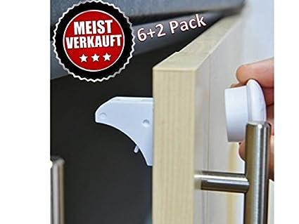 happylovebaby® Invisible Seguro para niños F cajones y puertas sin tornillos y taladrar magnética Cerradura