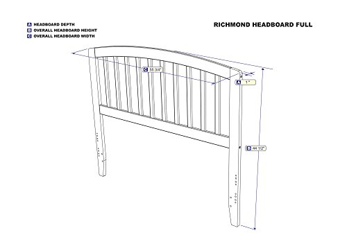 Bedroom Atlantic Furniture Richmond Headboard, Full, White farmhouse headboards