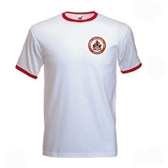 Invicta Screen Printers Mens Crawley Town Retro Style FC Football Club T Shirt Small White