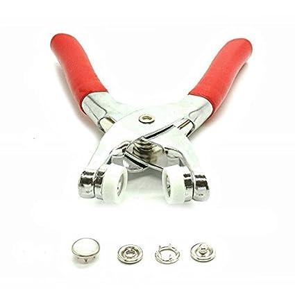 100 Piezas 12mm Perla Broches de presión Poppers + alicates de ajuste para Ropa y Manualidades