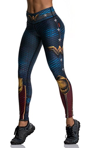 Drakon Wonder Woman Superhero Many Styles Leggings Yoga Pants Compression ()
