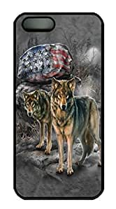 Covers Pride Rock Wolf Custom PC Hard Case Cover for iPhone 5/5S Black by lolosakes