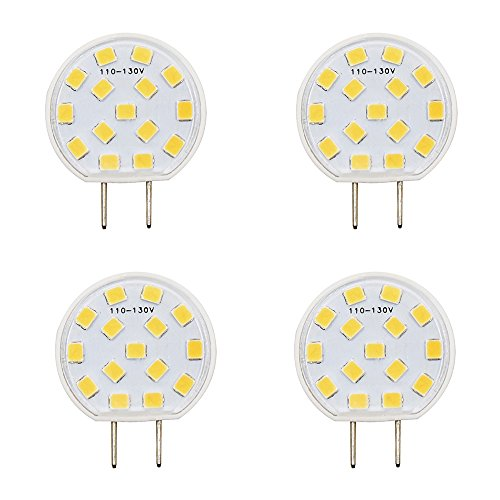 LED G8 Under-cabinet Lighting Luxvista Dimmable Ceramic JCD Type 2.5W G8 LED Light Bulb Puck Light Closet Lights120V 20W Halogen Replacement, Daylight 6000K (4-Pack) by Luxvista