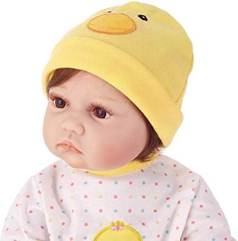 Realistische 21-inch Renesid Girl, Geel Chicken Girl, Geel Girl