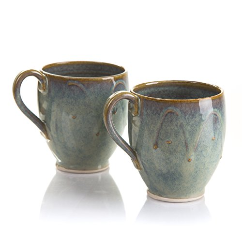 Castle Arch Pottery Set Of 2 Coffee/Tea Mugs, Handmade In Ireland, Ideal For Coffee and Tea, Use For Hot and Cold Beverages, Beautiful Design And Stam…