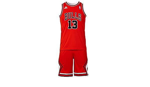 Conjunto Basketball Adidas NBA Mini-Kit Chicago Bulls Joakim Noah nº13 Para Niño / Adolescente: Amazon.es: Ropa y accesorios