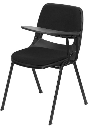Flash Furniture Black Padded Ergonomic Shell Chair with Left Handed Flip-Up Tablet Arm by Flash Furniture