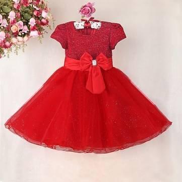 Bheema Bebé niña poliéster lentejuelas gran princesa lazo vestido