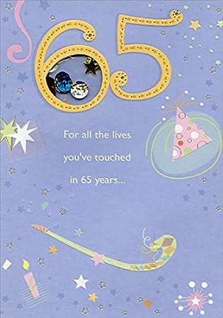 Amazon.com: Tarjeta de cumpleaños 65 / 65 años de edad con ...