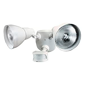 Heath/Zenith HZ-5718-WH Dual Brite 120W Par38 Security Light, White