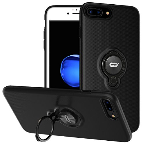 iPhone 8 Plus Case, iPhone 7 Plus Case With Ring Holder Kick
