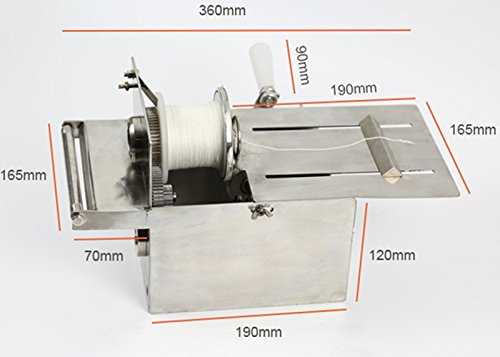 Handle Stainless steel sausage tying knotting machine sausage casings binding machine smoked sausage knot machin sausage linker machine (Max. Sausage diameter: 0-32mm) by CGOLDENWALL (Image #3)