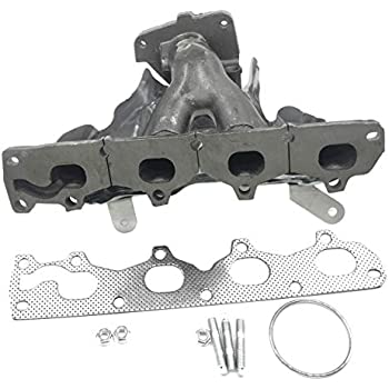 Downspout Studs Fits 2.2L Ecotec 4-Cylinder Engine APDTY 785981 Exhaust Manifold Cast Iron Assembly w//Heat Shield Gaskets Replaces 90537679