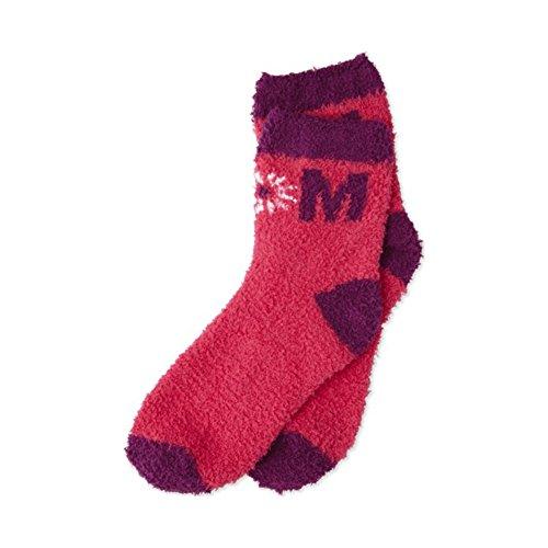 Life Is Good Women's Snuggle Crew Daisy Socks, Pop Pink, OS (Good Snuggle)