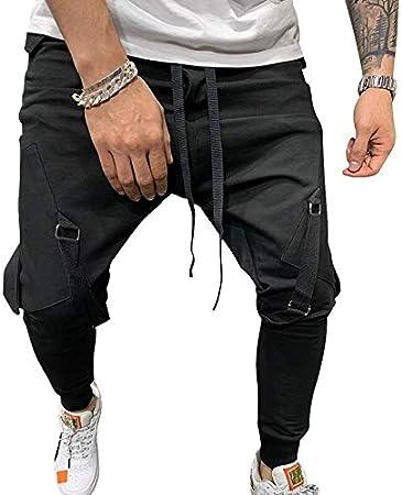 Dongwall Nuevos Pantalones De Hombre Con Cordon De Moda Pantalones Multibolsillos Grandes Pantalones De Chandal Streetwear Hombre Pantalones De Jogging Lapiz Amazon Es Hogar