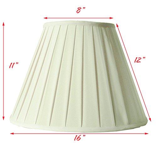 Creme Linen Round Box Pleat Lamp Shade 9x16x11 (Spider) (Pack of 1) (Box Height Medium)