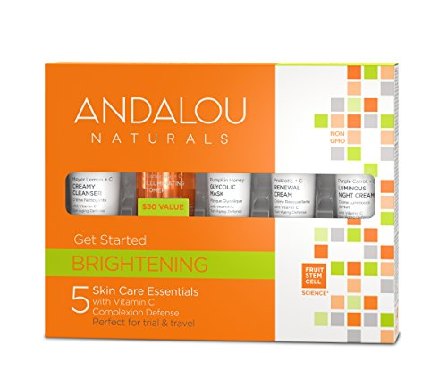 Vitamin E Skin Care Starter Kit - Andalou Naturals Brightening Get Started Kit, 5 Count