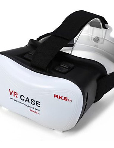 2016 VR BOX Google Cardboard 3D Movie VR Case Head Mount Plastic VR BOX Version Virtual Reality Glasses for Smart Phone , white