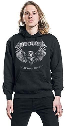 nera con Felpa Life Roll 'n For Airbourne Rock cappuccio 8qnwqPvHd
