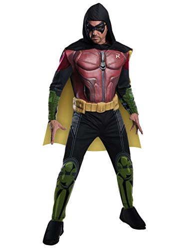 Rubie's Men's Batman Arkham City Deluxe Muscle Chest Robin, Multicolor, Small -
