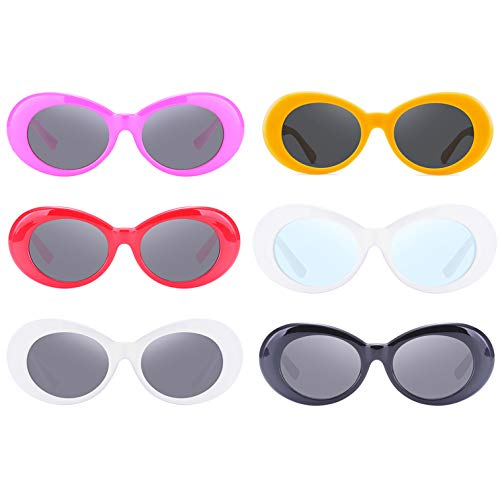 Retro Oval Mod Thick Frame Clout Goggles Kurt Cobain Sunglasses ()