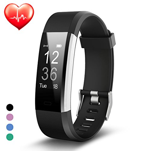 Fitness Tracker, Fitness Watch, TongBaofit Plus Activity Tracker Smart Sport Pedometer with Heart Rate Monitor, GPS Tracker, Calorie Counter, Bluetooth Waterproof Smart Wristband for IOS and Android