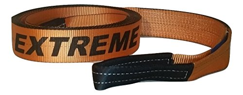OFF-ROAD EXTREME (ORANGE) TOW STRAP 3' x 30 FT - 30,000LB - FOR TOWING & RECOVERY