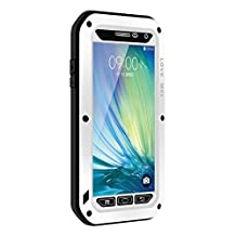 Waterproof Case for Galaxy A5,Shockproof Waterproof Dust Proof Love Mei Aluminum Metal Gorilla Glass Protection Hybrid Hard Powerful Case For Samsung Galaxy A5 (White)