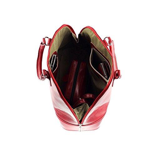 qualite main VENISE de Sac Cadeau à en N1062 cuir Surprise femme nbsp; Sac Rouge cuir Olivia haute 6t07q0