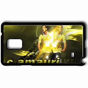 Personalized Samsung Note 4 Cell phone Case/Cover Skin Amauri Football Black