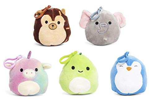(Squishmallows Clip-Ons Backpack Keychain Clip On Plush Animal Toy Set of 5)