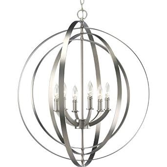 Amazon progress lighting p3889 126 6 60 watt chandelier sphere progress lighting p3889 126 6 60 watt chandelier sphere foyer lantern by progress mozeypictures Images