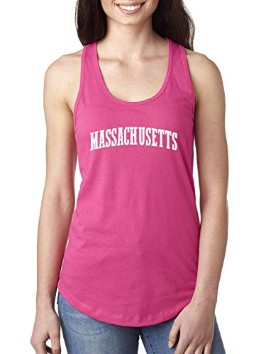 Massachusetts State Flag Traveler Gift Women's Racerback Tank