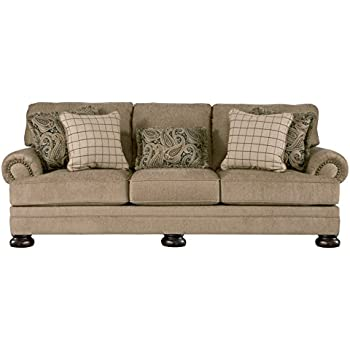 Merveilleux Ashley Furniture Signature Design   Keereel Sofa With 5 Pillows   3 Seats  With Plush Upholstery   Traditional   Sand