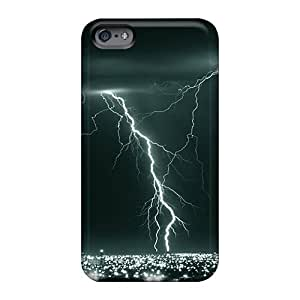 Scratch Protection Hard Phone Case For Apple Iphone 6s (uSh3100iNIE) Allow Personal Design Colorful Lightning Storm Pictures