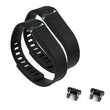 2pcs Large L Black Replacement Bands With Clasps for Fitbit FLEX Only /No tracker/ Wireless Activity Bracelet Sport Wristband Fit Bit Flex Bracelet Sport Arm Band Armband