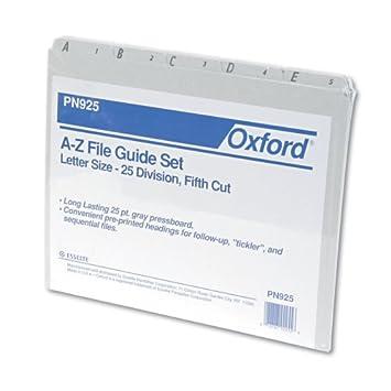 Amazon.com : Pendaflex A-Z Top Tab Recycled Gray Pressboard 1/5 ...
