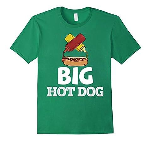 Mens Big Dog Hot Dog T Shirt Weiner and Bun Sausage Love Tee Medium Kelly Green - Weiner Green T-shirt