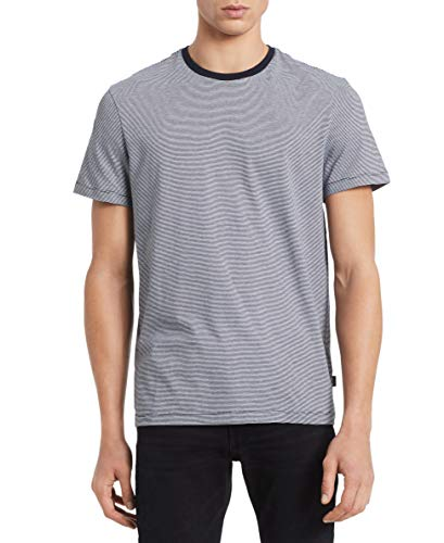 - Calvin Klein Men's Short Sleeve Crew Neck Liquid Jersey T-Shirt with UV Protection, Dark Navy Combo, Small