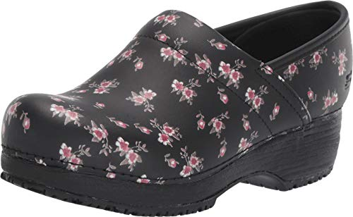 Skechers Work Clog SR Slip Resistant Womens Shoes Black/Pink 9