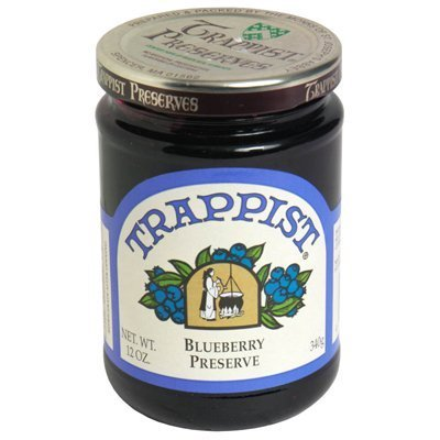 Trappist Preserve Preserves, Blueberry, 12-Ounce (Pack of 6) by Trappist Preserve