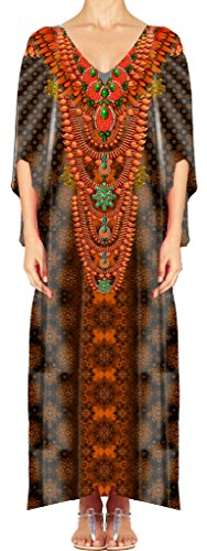 Women's Turkish Kaftan Beachwear Swimwear Bikini Cover ups Beach Dresses DG27-1 by D G PRINTS FAB